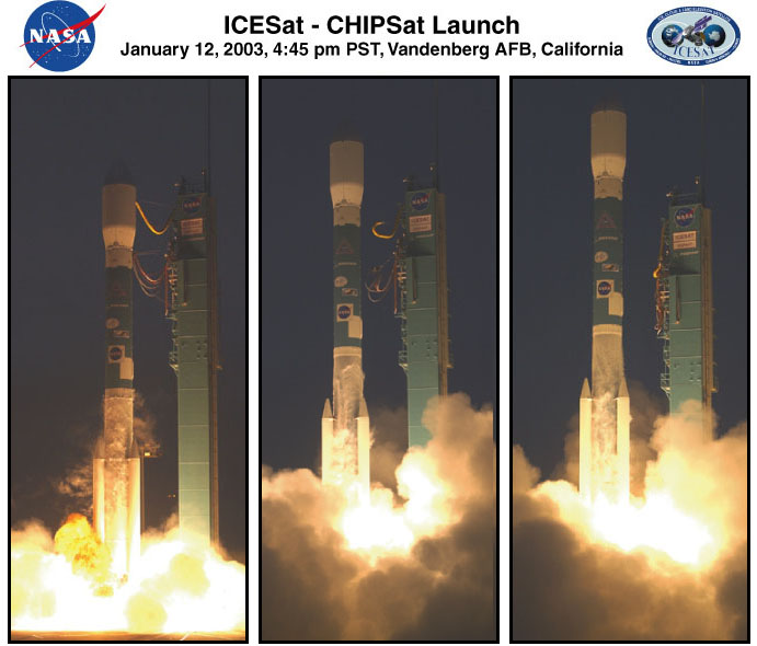 ICESat Launch Photo